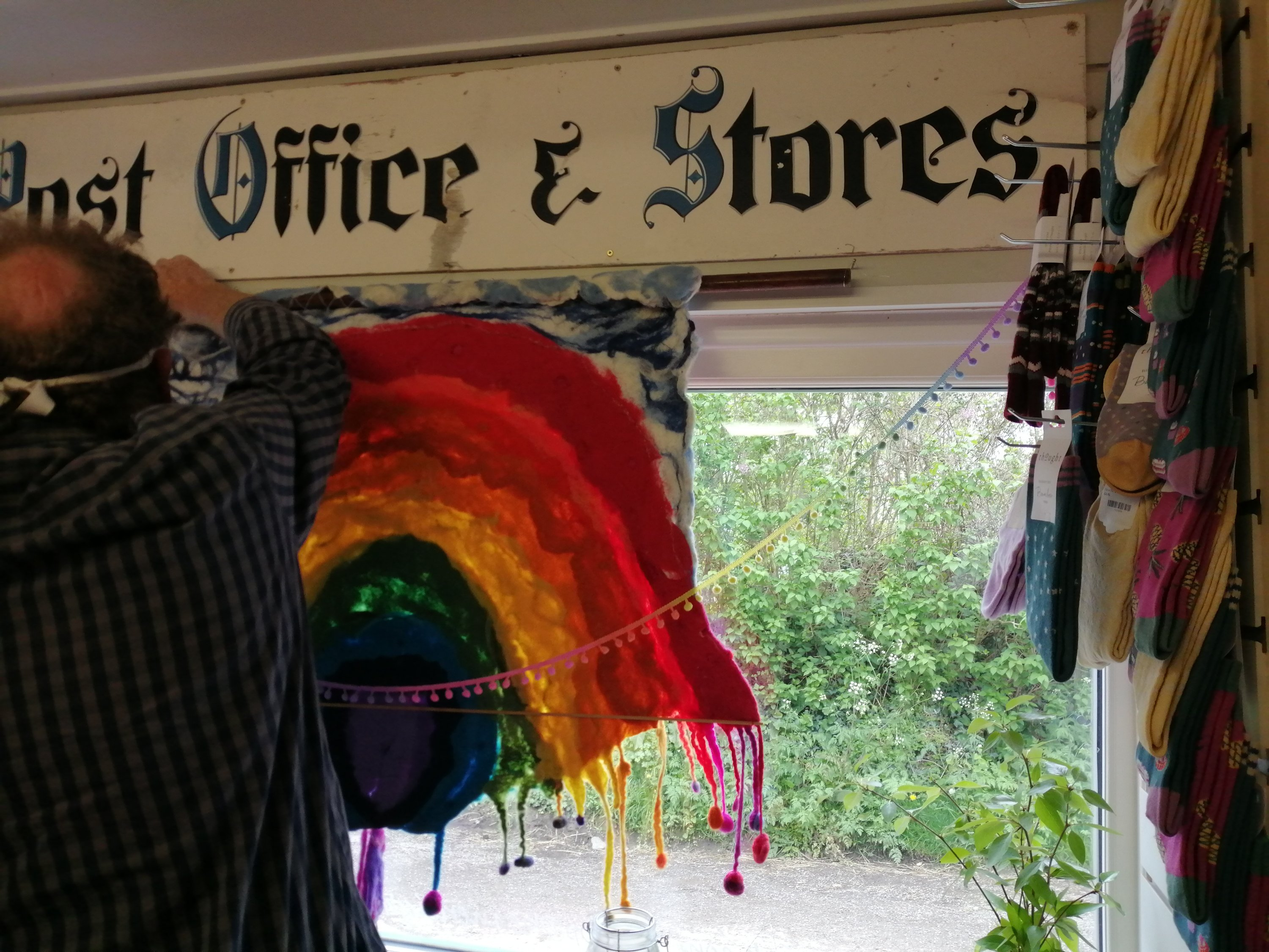 Felted Rainbow window hanging Kennerleigh
